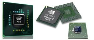 чипсеты фирм: Intel, NVIDIA, AMD