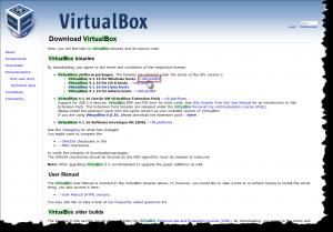 сайт VirtualBox