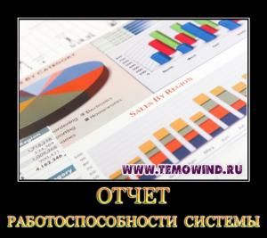 отчет о работоспособности системы
