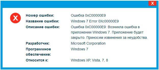 Так ошибка 0xc00000e9 может выглядеть при установке windows